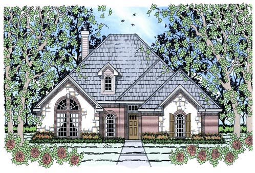 Traditional House Plan 75025 Elevation
