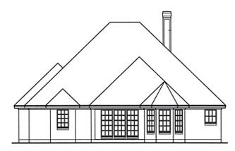 Traditional House Plan 75025 Rear Elevation