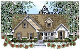 House Plan 75026 | Country Style Plan with 2065 Sq Ft, 4 Bedrooms, 2 Bathrooms, 2 Car Garage Elevation
