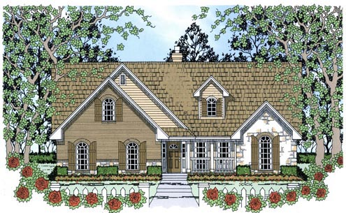 Country House Plan 75026 Elevation