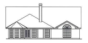 Country House Plan 75026 Rear Elevation