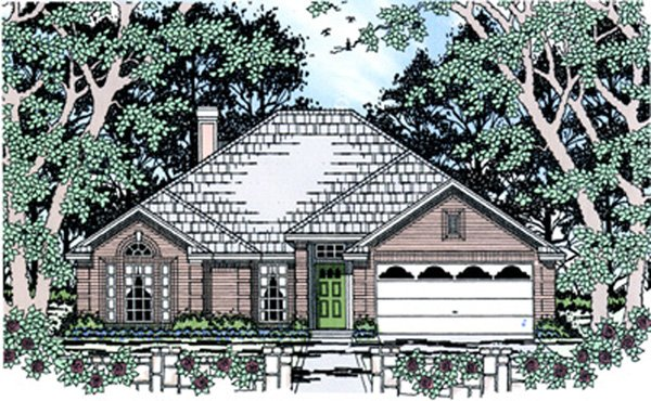 Traditional House Plan 75028 Elevation