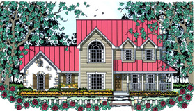 Country House Plan 75030 Elevation