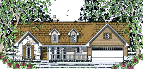 Country House Plan 75032 Elevation