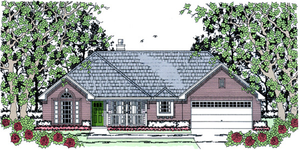 Traditional House Plan 75033 Elevation