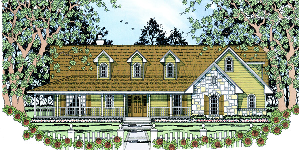 Country House Plan 75034 Elevation