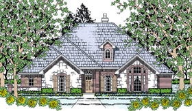 Traditional House Plan 75035 Elevation