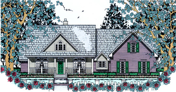 Country House Plan 75036 Elevation