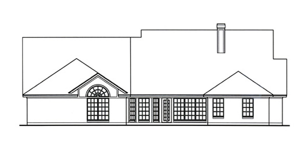 Country House Plan 75036 Rear Elevation