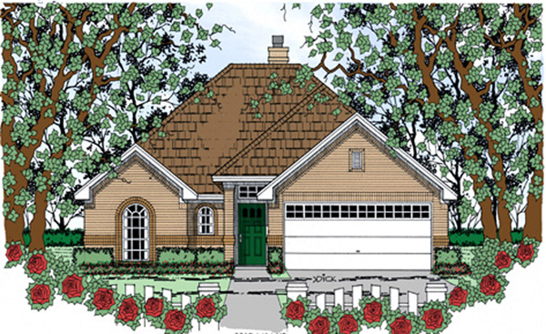 Traditional House Plan 75043 Elevation