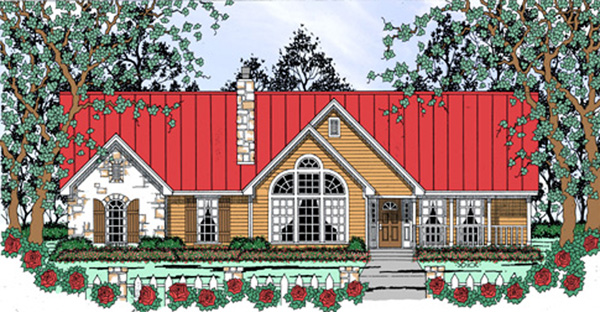 Country House Plan 75044 Elevation