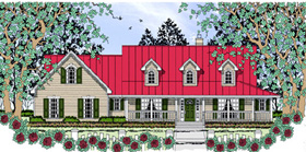 Country Farmhouse House Plan 75045 Elevation