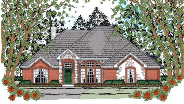Traditional House Plan 75046 Elevation