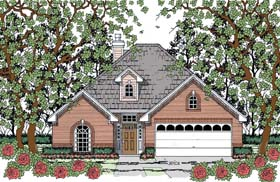 Traditional House Plan 75047 Elevation