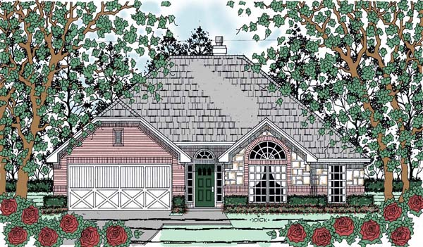 Traditional House Plan 75053 Elevation