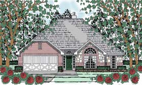Traditional , Country House Plan 75054 with 3 Beds, 2 Baths, 2 Car Garage Elevation