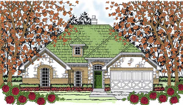 Country Traditional House Plan 75055 Elevation