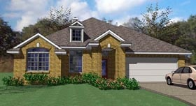 Cottage Country Traditional House Plan 75100 Elevation