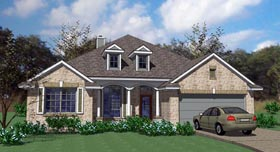 Traditional , Country , Cottage House Plan 75101 with 3 Beds, 2 Baths, 2 Car Garage Elevation