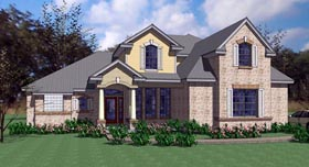 House Plan 75104 | Contemporary European Modern Style Plan with 2549 Sq Ft, 4 Bed, 3 Bath, 2 Car Garage Elevation