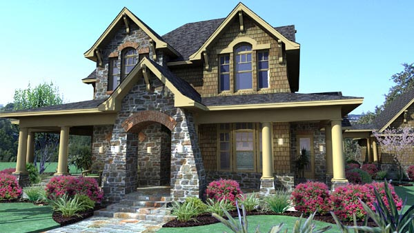 Country, Craftsman, Tuscan House Plan 75106 with 3 Beds, 3 Baths, 2 Car Garage Picture 4