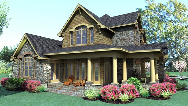 Country, Craftsman, Tuscan House Plan 75106 with 3 Beds, 3 Baths, 2 Car Garage Picture 5