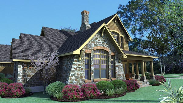 Country, Craftsman, Tuscan House Plan 75106 with 3 Beds, 3 Baths, 2 Car Garage Picture 6