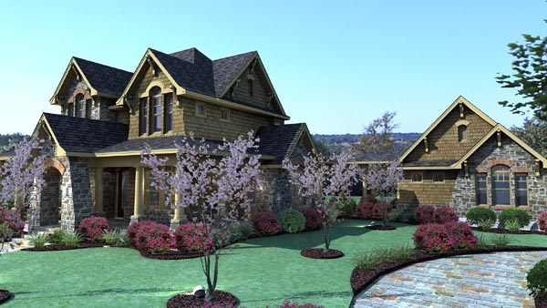 Country, Craftsman, Tuscan House Plan 75106 with 3 Beds, 3 Baths, 2 Car Garage Picture 1