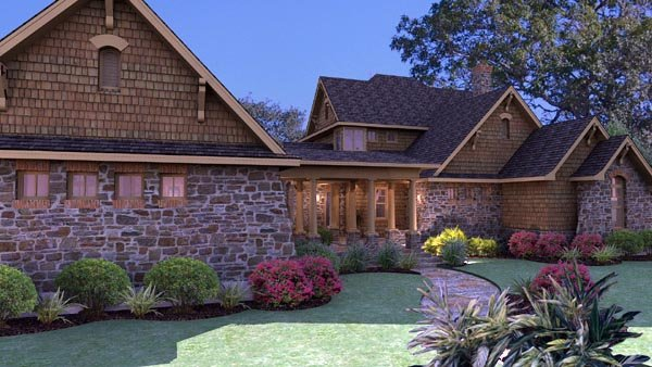 Country Craftsman Tuscan House Plan 75106