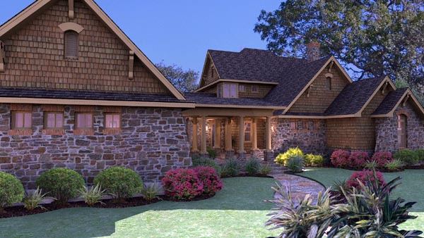 Country, Craftsman, Tuscan House Plan 75106 with 3 Beds, 3 Baths, 2 Car Garage Picture 2