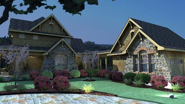 Country, Craftsman, Tuscan House Plan 75106 with 3 Beds, 3 Baths, 2 Car Garage Picture 3
