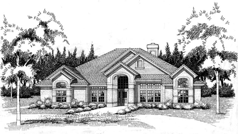 Coastal Contemporary Modern Elevation of Plan 75108