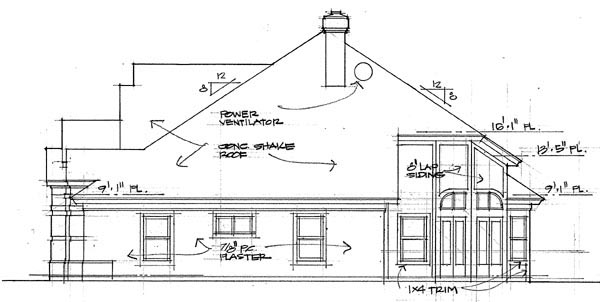 Coastal, Contemporary, Modern House Plan 75108 with 3 Beds, 3 Baths, 3 Car Garage Picture 2