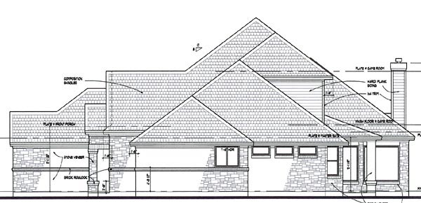 Coastal, Contemporary, Modern House Plan 75110 with 3 Beds, 3 Baths, 3 Car Garage Picture 2