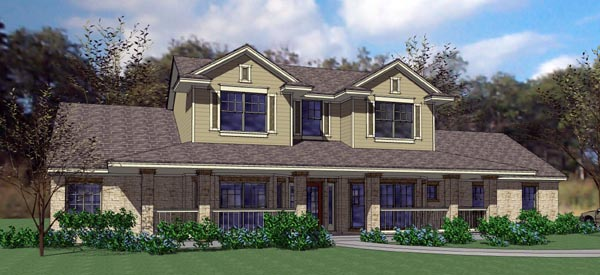 Coastal, Contemporary, Modern House Plan 75111 with 3 Beds, 3 Baths, 3 Car Garage Elevation