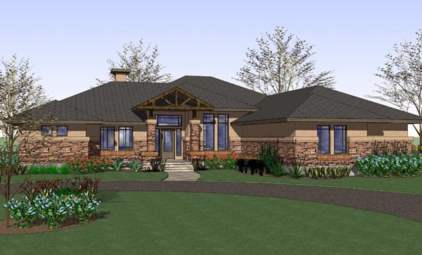 Country Plantation Southwest House Plan 75114 Elevation