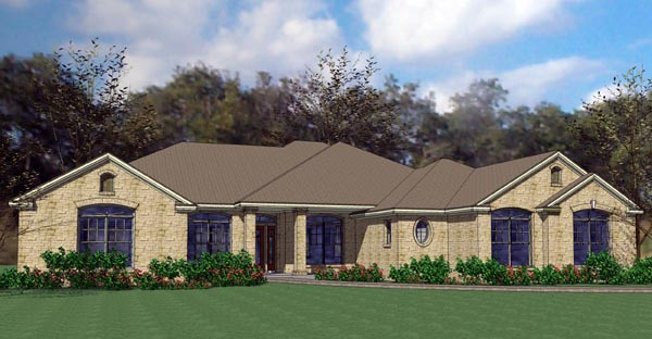 Colonial , Traditional , Elevation of Plan 75118