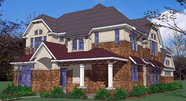 Coastal , Contemporary , Florida House Plan 75125 with 4 Beds, 4 Baths, 2 Car Garage Elevation