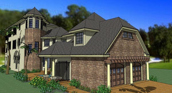 Traditional , Florida , Coastal House Plan 75126 with 6 Beds, 8 Baths, 2 Car Garage Elevation