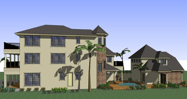 Coastal, Florida, Traditional House Plan 75126 with 6 Beds, 8 Baths, 2 Car Garage Picture 1