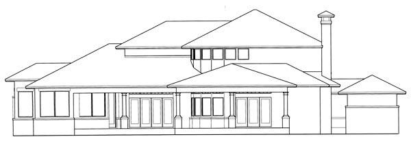Coastal Mediterranean Traditional House Plan 75130 Rear Elevation