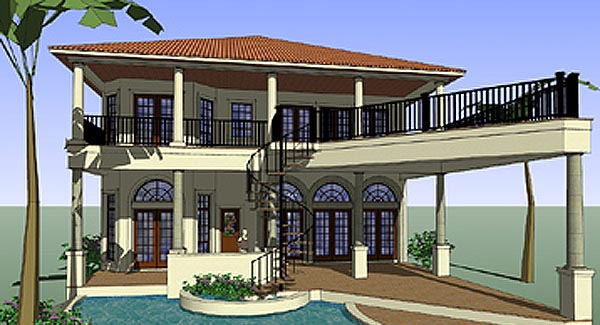 House plan 75131 at family home plans for Italian house design pictures