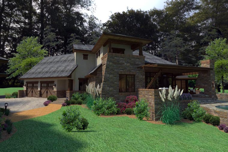 Craftsman, Tuscan House Plan 75132 with 3 Beds, 4 Baths, 2 Car Garage Picture 7