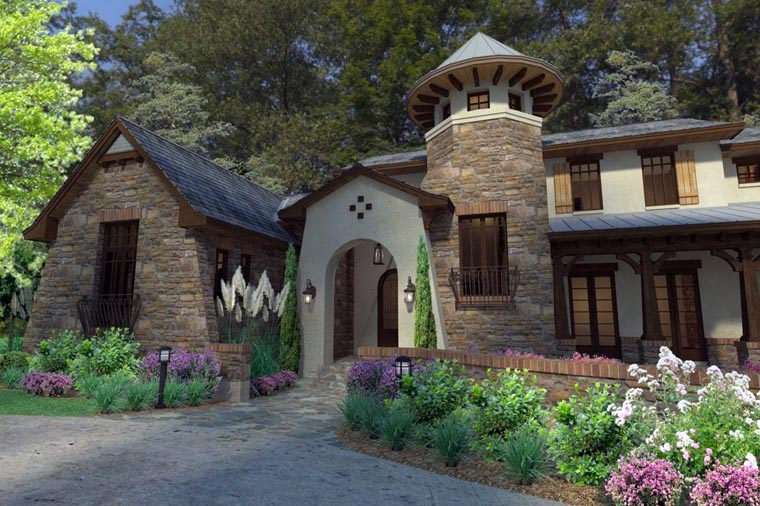 Craftsman, Tuscan House Plan 75132 with 3 Beds, 4 Baths, 2 Car Garage Picture 8