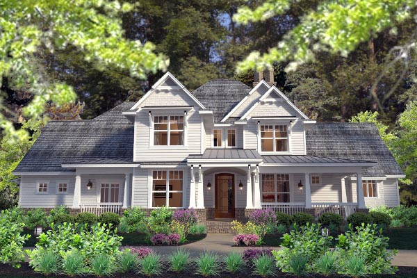 Country farmhouse southern traditional victorian house for Traditional farmhouse plans
