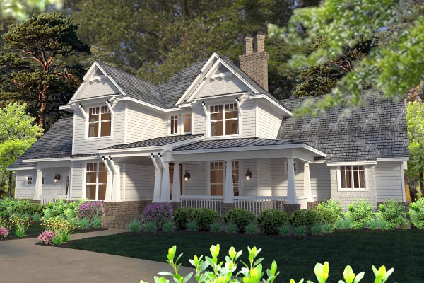 Country, Farmhouse, Southern, Traditional, Victorian House Plan 75133 with 3 Beds, 3 Baths, 3 Car Garage Picture 1