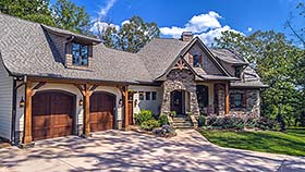 cottage craftsman french country house plan 75134 elevation
