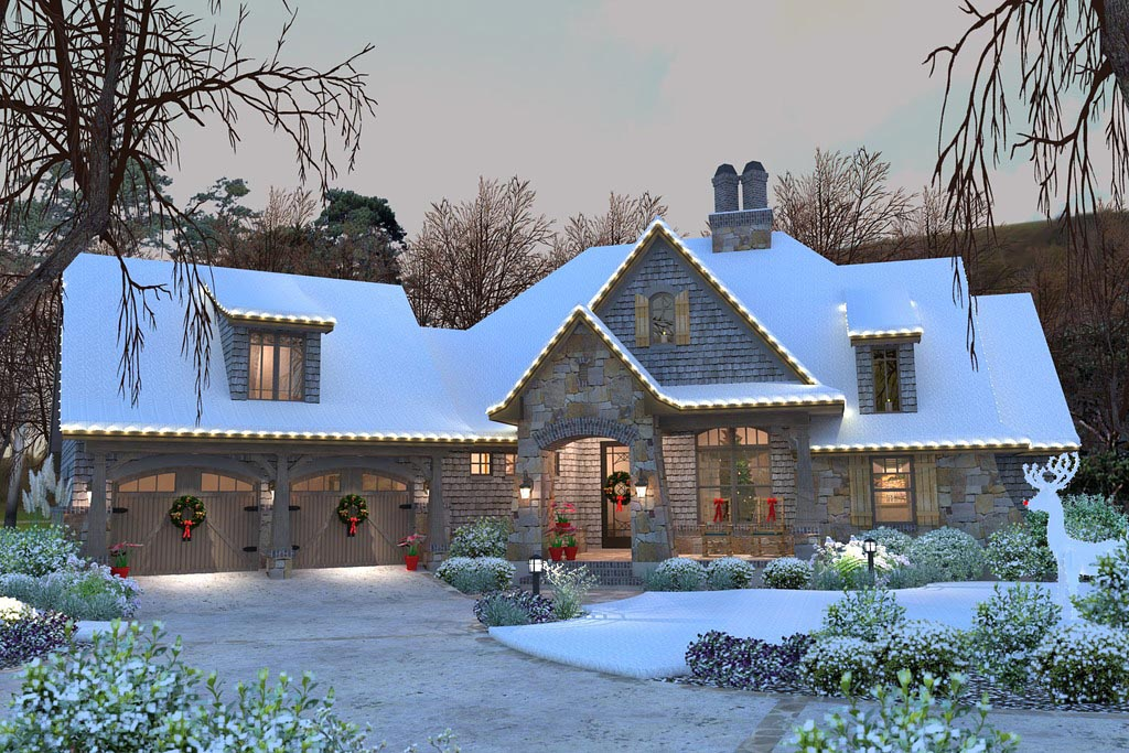 click here to see an even larger picture cottage craftsman french country house plan - Craftsman House Plans