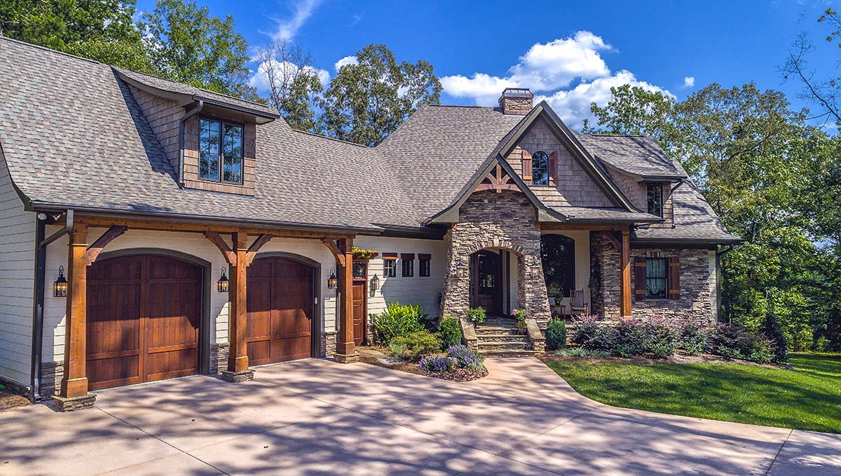 Cottage , Craftsman , Tuscan House Plan 75134 with 4 Beds, 4 Baths, 2 Car Garage Elevation