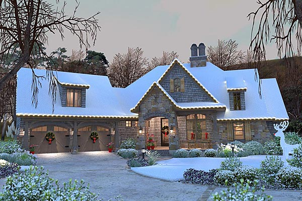 Cottage, Craftsman, Tuscan House Plan 75134 with 4 Beds, 4 Baths, 2 Car Garage Picture 29